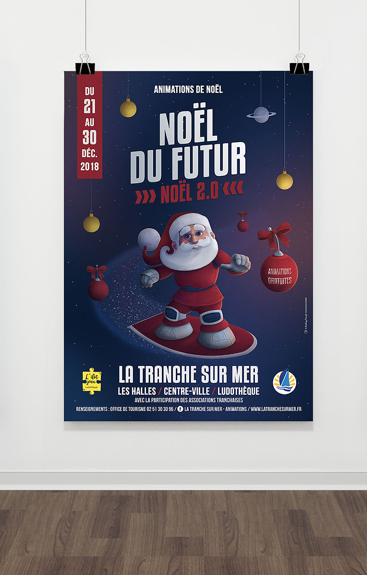 Audrey Bareil Communication Noël affiche