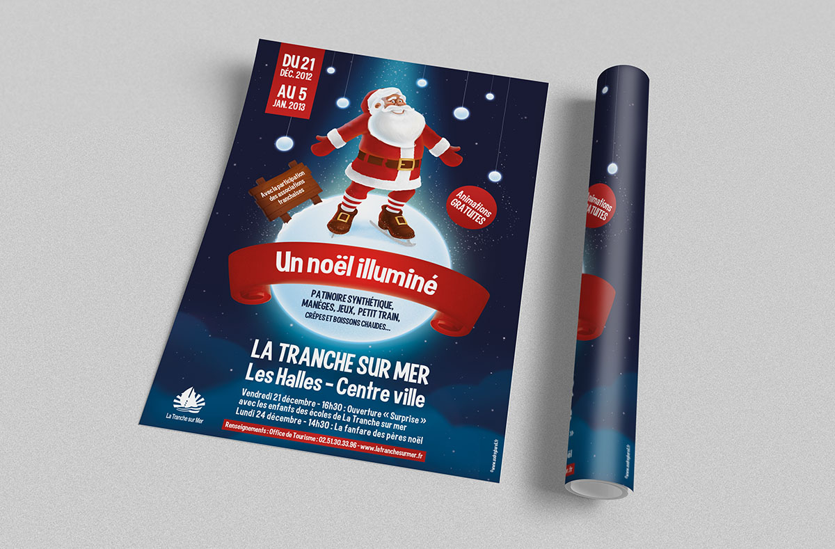 Audrey Bareil Communication Noël affiche2012