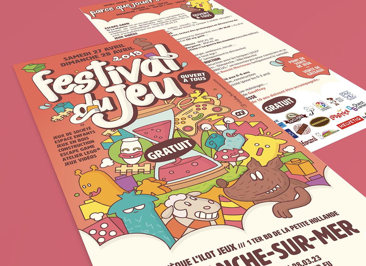 Audrey Bareil Communication Tract Festival du jeu