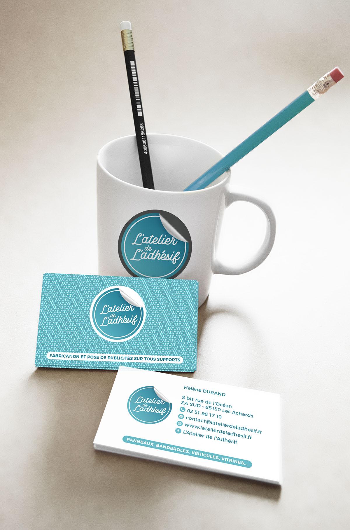 Audrey Bareil Communication atelier de l'adhesif carte