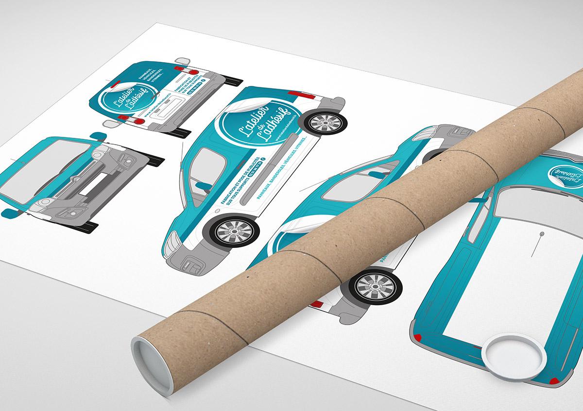 Audrey Bareil Communication atelier de l'adhesif vehicule